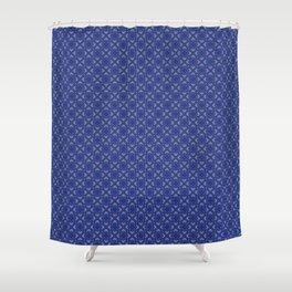 Kyell Blue Shower Curtain