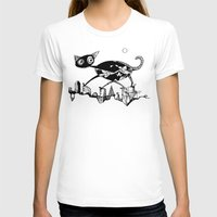black cat T-shirts featuring black cat by Bunny Noir