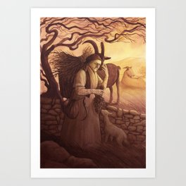 Vesna - A Compendium of Witches Art Print