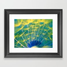 dandelion abstract Framed Art Print