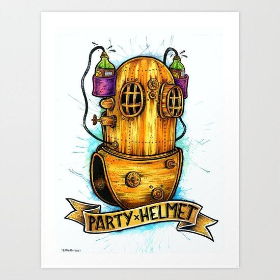 Party Helmet Art Print