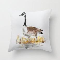 Bernache du Canada (Canada Goose) Throw Pillow