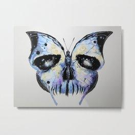 Skull X Butterfly Metal Print
