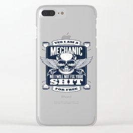 MECHANIC QUOTE Clear iPhone Case