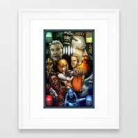 fifth element Framed Art Prints featuring The Fifth Element by Boot to the Head Studios