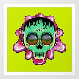 Cute Skulls Franky Art Print