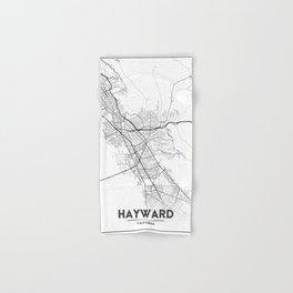 Minimal City Maps - Map Of Hayward, California, United States Hand & Bath Towel