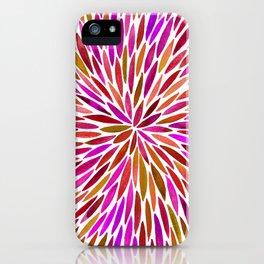 Pink Watercolor Burst iPhone Case
