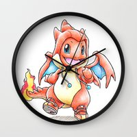 projectrocket Wall Clocks featuring Y the Sudden Change of Heart? by Randy C
