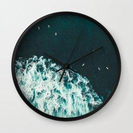 WAVES - OCEAN - SEA - WATER - COAST - PHOTOGRAPHY Wall Clock