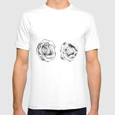 Two Roses for my Friends Mens Fitted Tee White MEDIUM