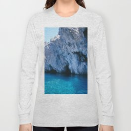 NATURE'S WONDER #5 - BLUE GROTTO (Turkey) #2 #art #society6 Long Sleeve T-shirt
