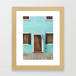 Doorway Series / Burano, Italy / 003 Framed Art Print