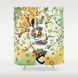 Raven Tree of Life Shower Curtain