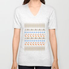 Day of the Dead Tribal Repeat Unisex V-Neck