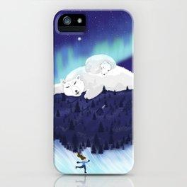 Skating on Antarctica iPhone Case