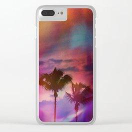 Feeling Purple Clear iPhone Case