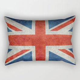 "UK British Union Jack flag ""Bright"" retro Rectangular Pillow"