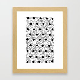Abstract black and white 1 Framed Art Print