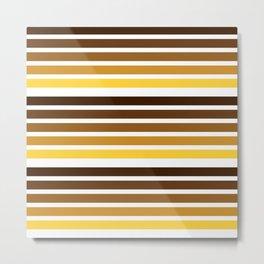 colorful lines warm colors decorative mininal pattern Metal Print