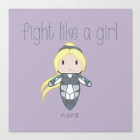 starcraft Canvas Prints featuring Fight Like a Girl - Nova | Starcraft | Heroes of the Storm by ~ isa ~