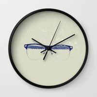 frames Wall Clocks featuring Frames by Wilson Davalos