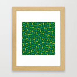 St Patrick's Day Lucky Shamrock Pattern Framed Art Print