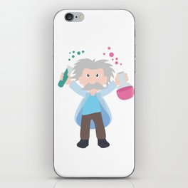 Science without religion is lame, religion without science is blind iPhone Skin