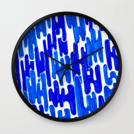 Blue Frizz Wall Clock