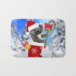 Baby Koala Christmas Cheer Bath Mat