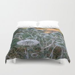 Seed Head Of Leek Flower Allium Sphaerocephalon  Duvet Cover