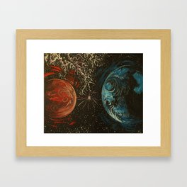 No Distance Matters Framed Art Print