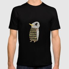 Baby Raven In Argyle Black MEDIUM Mens Fitted Tee