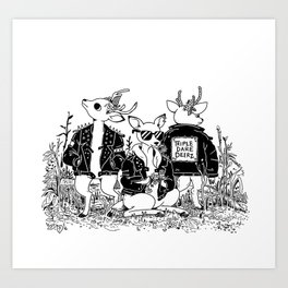 The Triple Dare Deerz Art Print