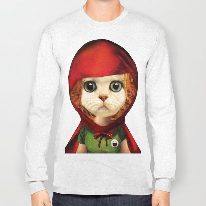 Kitten red riding  Long Sleeve T-shirt