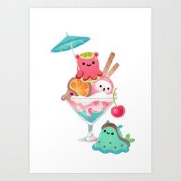 Mollusk cocktail Art Print