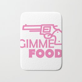 Funny Foodie Quote  print Bath Mat
