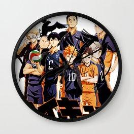 Karasuno haikyuu Volleyball Wall Clock