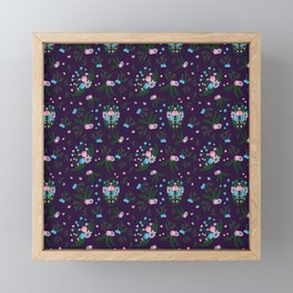 Vintage Florals - Purple Framed Mini Art Print