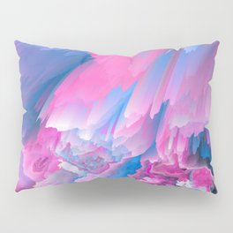 Dangerous Safety Glitched Fluid Art Pillow Sham