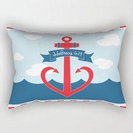 Hebreos 6:19 Rectangular Pillow