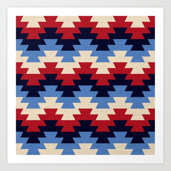 Aztec geometric pattern Art Print