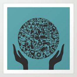 Hand the industry2 Art Print