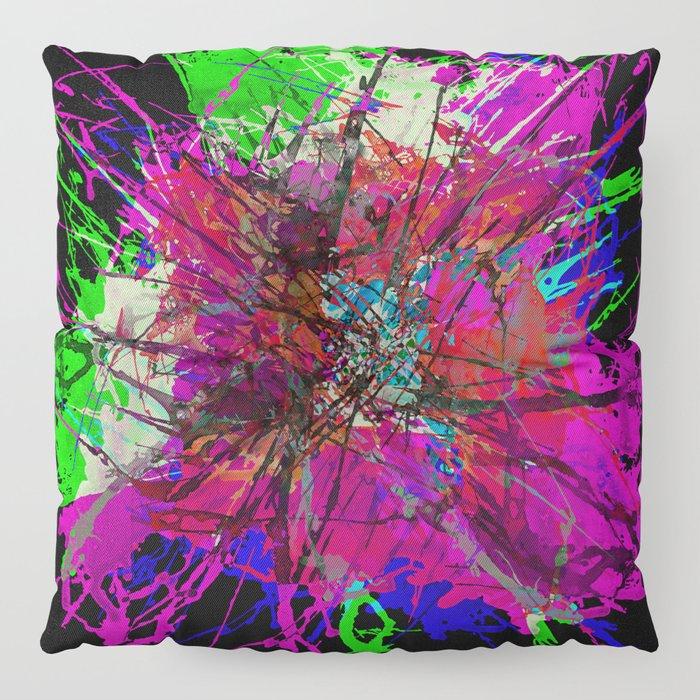 Colour Splat On Black / Color Splat On Black Floor Pillow by ...