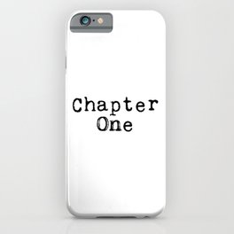 Chapter One (Typewriter) iPhone Case
