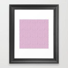 Chicken Wire Blush Framed Art Print