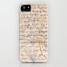 French Parchment iPhone (5, 5s) Slim Case