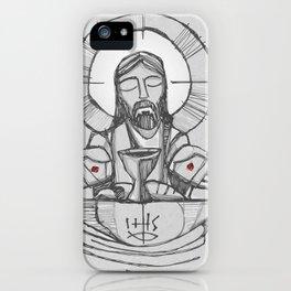 Jesus Christ Eucharist illustration iPhone Case