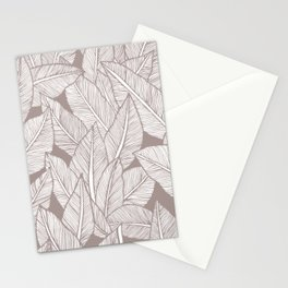 Tropical minimalistic leaves Stationery Cards