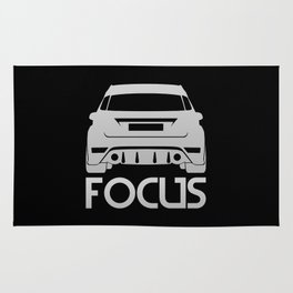 Ford Focus RS - silver - Rug